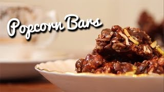 Cherry, Chocolate And Popcorn Bars - Crumbs