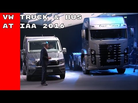VW Truck & Bus at the IAA Commercial Vehicles Unveiling 2016