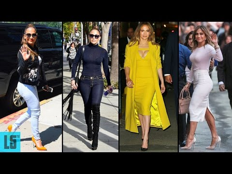 Jennifer Lopez's Hairstyle, Casual Style & Street Style - 2017