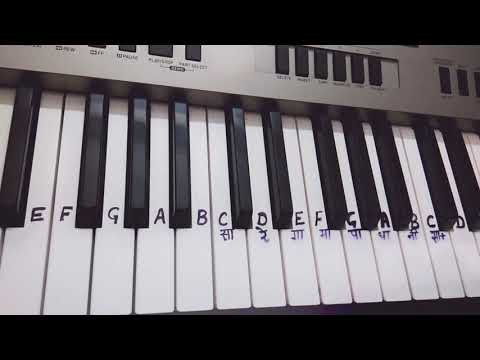 Dil Ke Arman Ansuon Mein Beh Gaye | Keyboard Tutorial | Harmonium | Piano | Very Slow Play