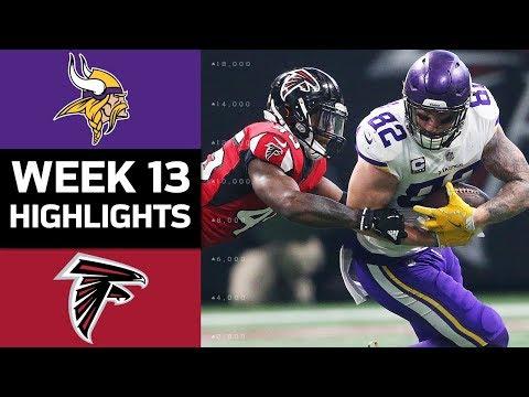 Vikings vs. Falcons | NFL Week 13 Game Highlights