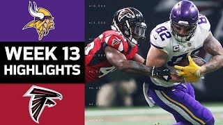 Vikings vs. Falcons | NFL Week 13 Game Highlights