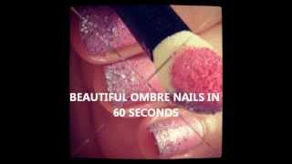 Glitter Pink Ombre Nails Tutorial Thumbnail