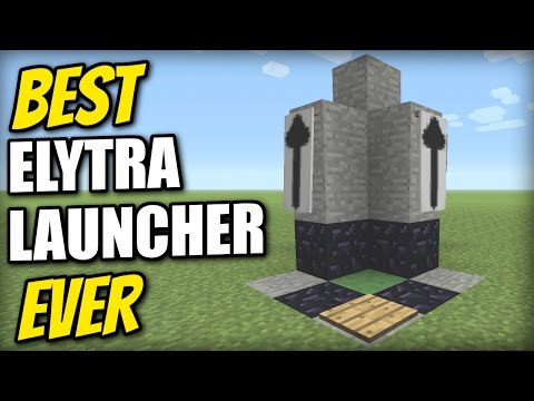 Minecraft - BEST ELYTRA LAUNCHER EVER[Sky Limit=0 seconds] Tutorial - MCPE / Xbox / PS4 / PS3 / Java