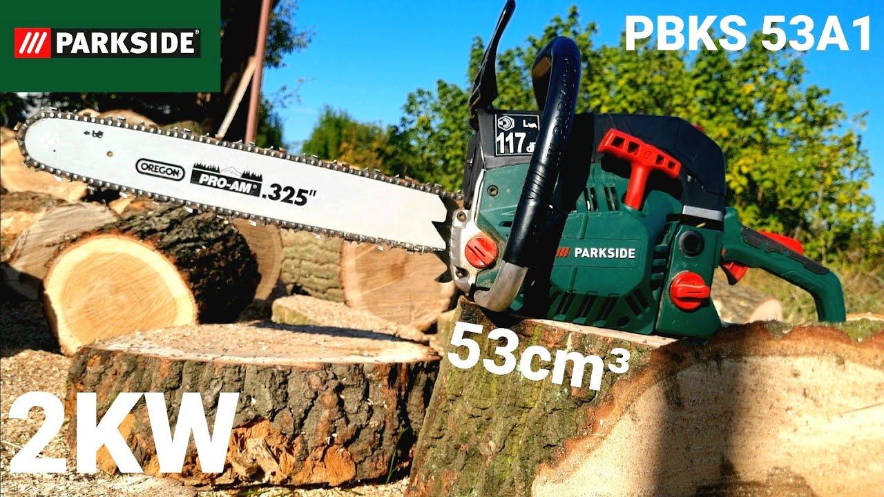Najvýkonnejšia reťazová pila od Parkside PBKS 53 A1 z výkonom 2KW a lištou Oregon 45 cm