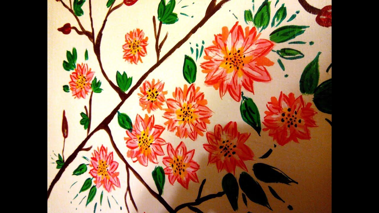 Декор с акриловыми красками