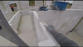 S01E47 Jak wybudować dom? Murowanie ścian działowych na kleju. Gazobeton 12cm.