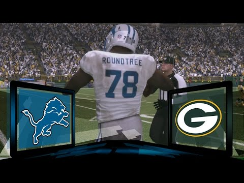 Madden NFL 17 Detroit Lions Franchise- Year 2 Game 9 at Green Bay Packers