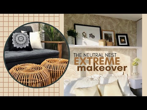 Extreme Condo Makeover How To Design A Small Space 23sqm Condo Transformation The Neutral Nest Youtube