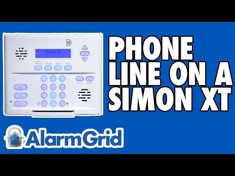 how do i connect an interlogix simon xt to phone line monitoring? - alarm  grid