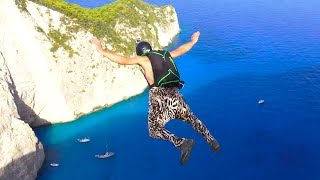 Best of BASE Jumping @Navagio Beach  | Negative4 Productions