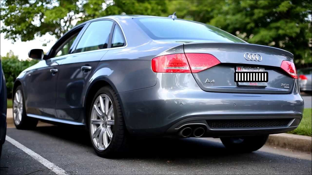 2012 audi a4 2 0t stock exhaust youtube. Black Bedroom Furniture Sets. Home Design Ideas