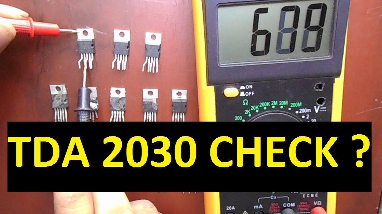 How To Check Ic With Multimeter Easily Tda2030 Youtube Audio Amplifier Circuit Diagram