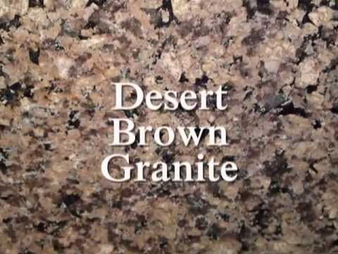 Charlotte Granite Countertops-DESERT BROWN-White Cabinets- NC 8-17-12