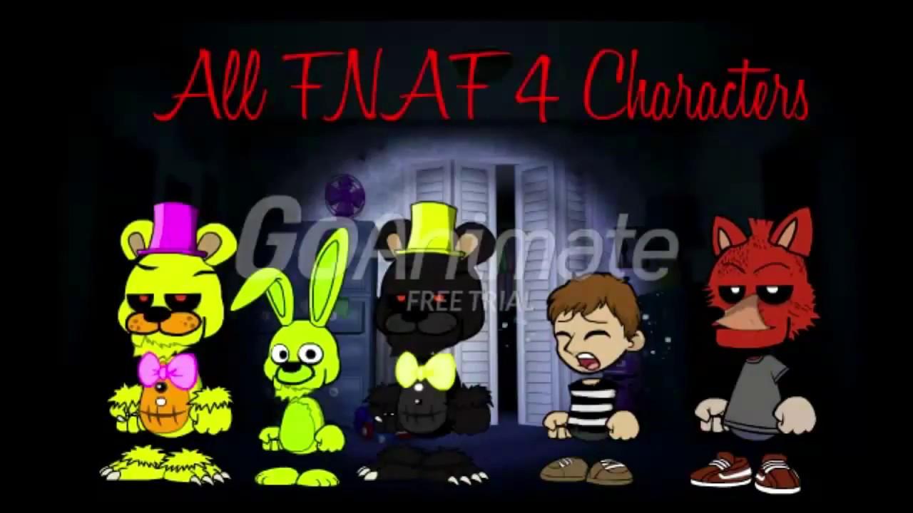 FNAF 4 Characters GoAnimate Style