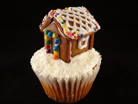 Miniature Gingerbread House For Cupcake Or Rim Of A Mug