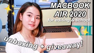 UNBOXING NEW LAPTOP! (macbook air 2020) for editing + PR HAUL & HUGE GIVEAWAY! | Philippines