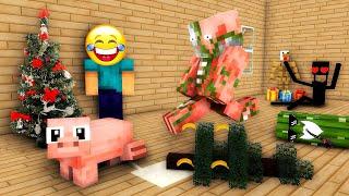 Monster School : CHRISTMAS TREE CHALLENGE - Minecraft Animation