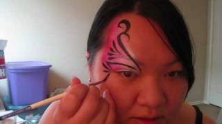 Face Painting - Eye design - swirls 2 tutorial Thumbnail