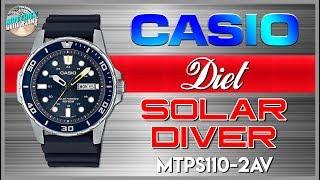 Diet Solar! | Casio Classic 100m Solar Quartz MTPS110-2AV Unbox & Review