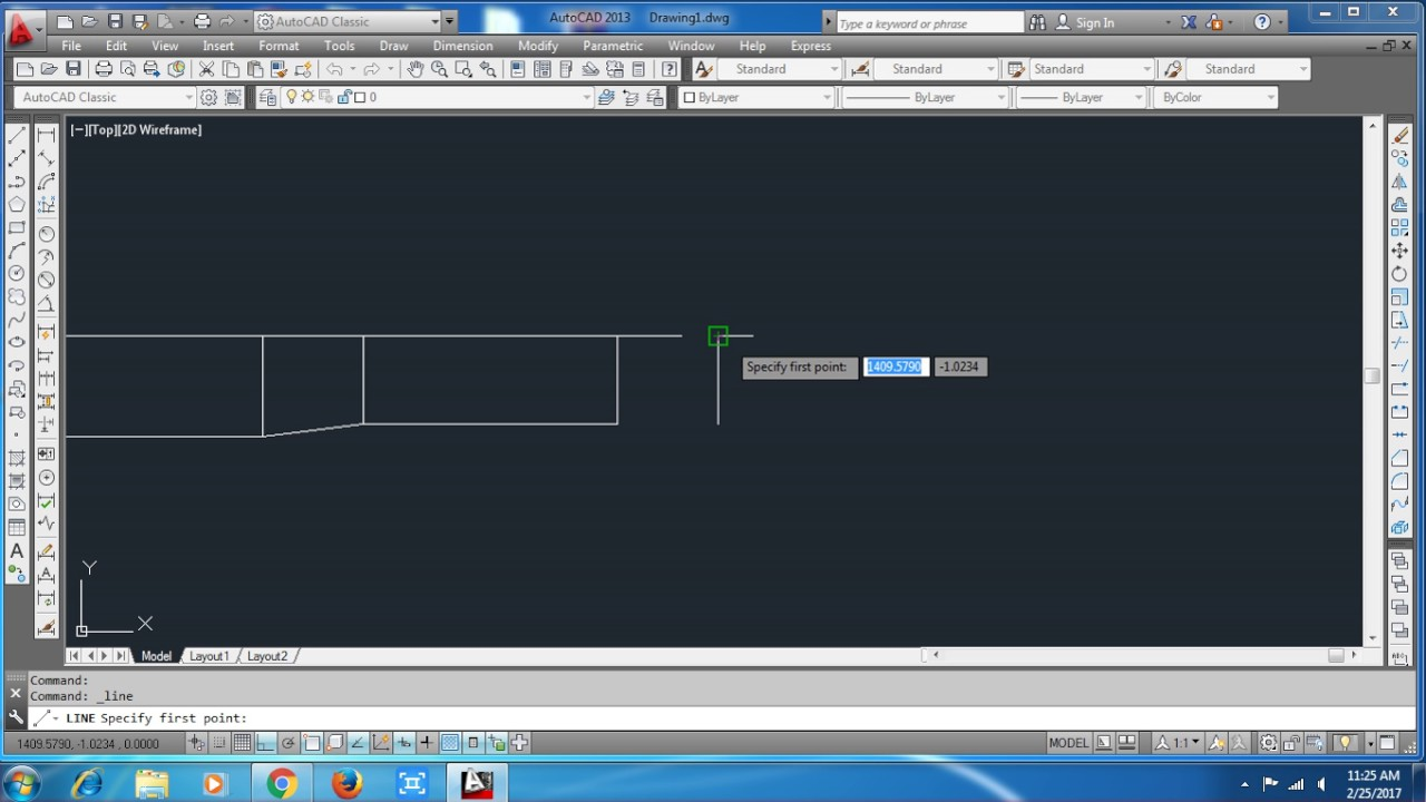 How To Make One Side Taper Duct In Autocad Youtube Hvac Drawing