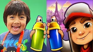 Subway Surfers 2020 vs RYAN'S WORLD Tag with Ryan Gameplay HD