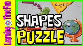 Shapes Puzzle for Kids, Childrens Puzzles, Preschool Shapes, Shapes for Children, ESL Kids, Kids Fun
