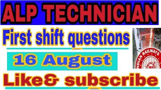 Alp technician  general science all shift all day questions