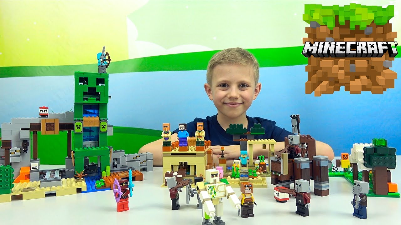 ЛЕГО МАЙНКРАФТ и Даник   Lego 21159 Аванпост разбойников  и Lego 21160 Патруль разбойников