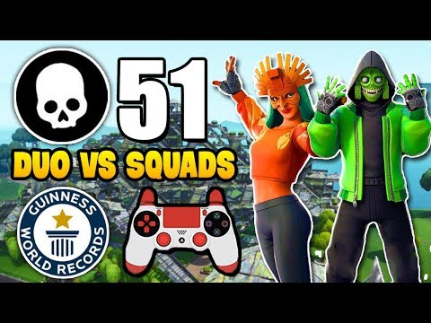 51 KILLS WORLD RECORD - Duo Squads on Controller (Better than Issa & Kamo)