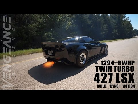 WOW! 1250+RWHP Twin Turbo 427 LSX C6 CORVETTE Z06 - Vengeance Racing