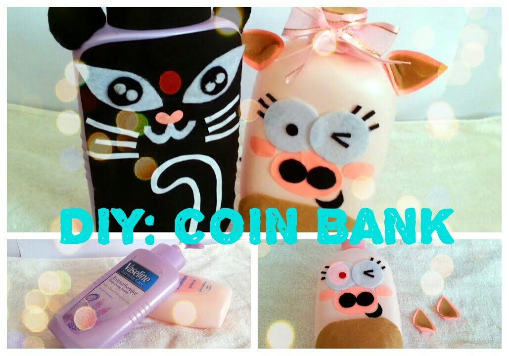 diy coin bank recycle your emptied container piggy bank funnydog tv. Black Bedroom Furniture Sets. Home Design Ideas