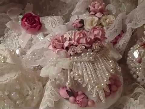 Inspired shabby chic michael 39 s globe ornaments youtube - Shabby chic christmas decorations to make ...