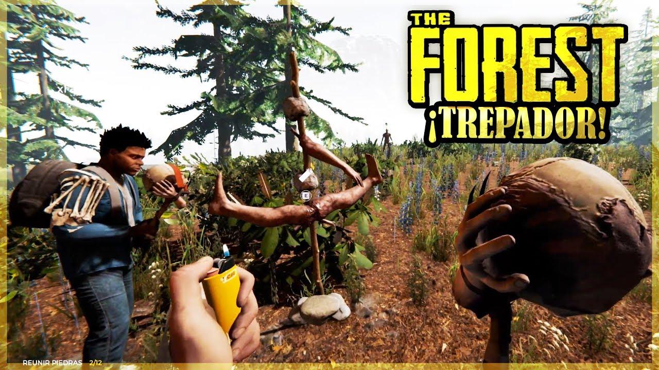 NOS ATACA UN CANIBAL TREPA ARBOLES - THE FOREST #9
