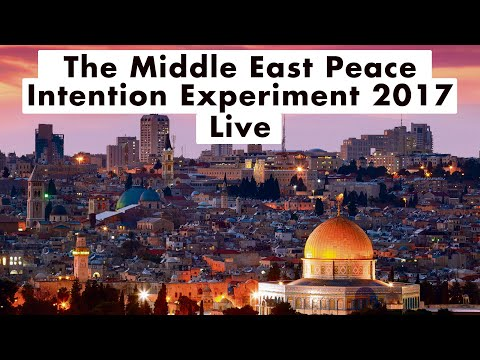 Lynne McTaggart- The Middle East Peace Intention Experiment
