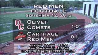Carthage Football vs. Olivet 2015_9_12