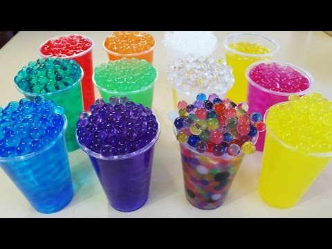 Watch These Magic Jelly Balls Growing In Water * Learn New Colors *