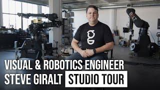 "Robots, Camera Gear and More! A Studio Tour of Steve Giralt's ""The Garage"""