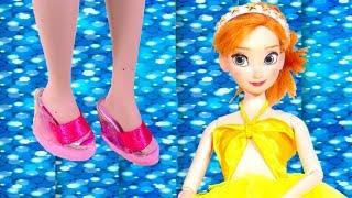Disney Princess Doll Set DIY How to Make Miniature Barbie Crafts
