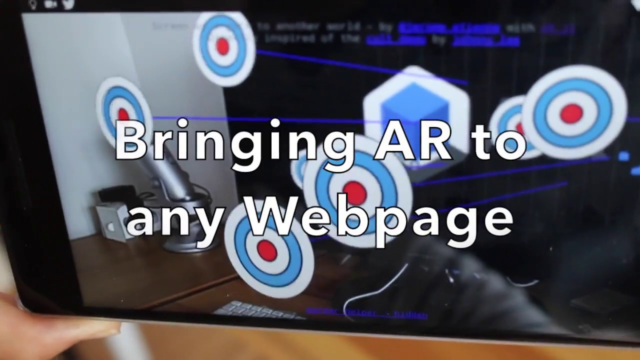 Augmenting Webpage with AR js - Bringing AR to any webpage