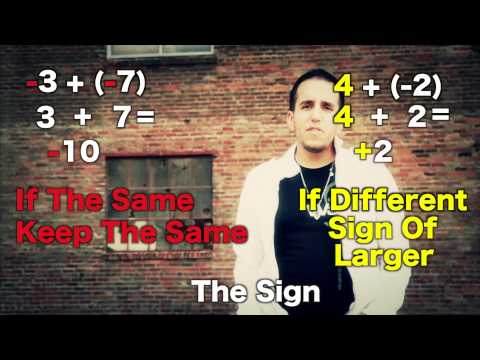 Integer Addition & Subtraction Music Video MC Santi