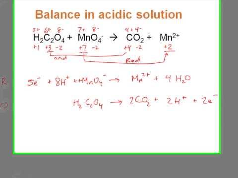 Balancing Redox Equation With MnO4