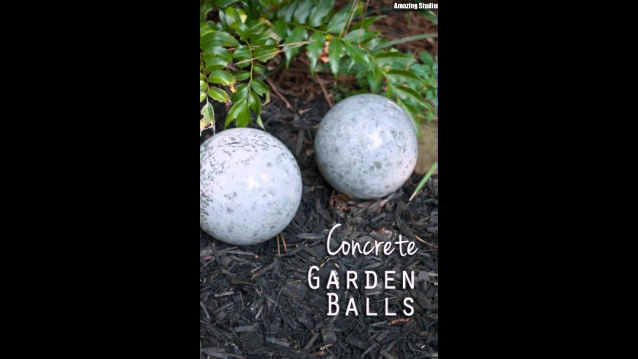 Marvelous DIY Concrete Garden Balls