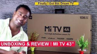 Xiaomi Mi Smart TV  4A (43 inches ) LED  Unboxing Installation & Review !