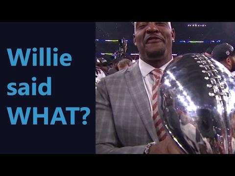 Super Bowl 51 Willie McGinest m-f bomb