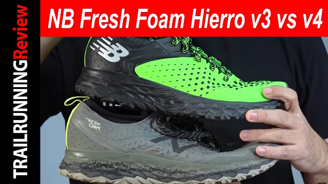 Comparativa New Balance Fresh Foam Hierro v4 vs Hoka One