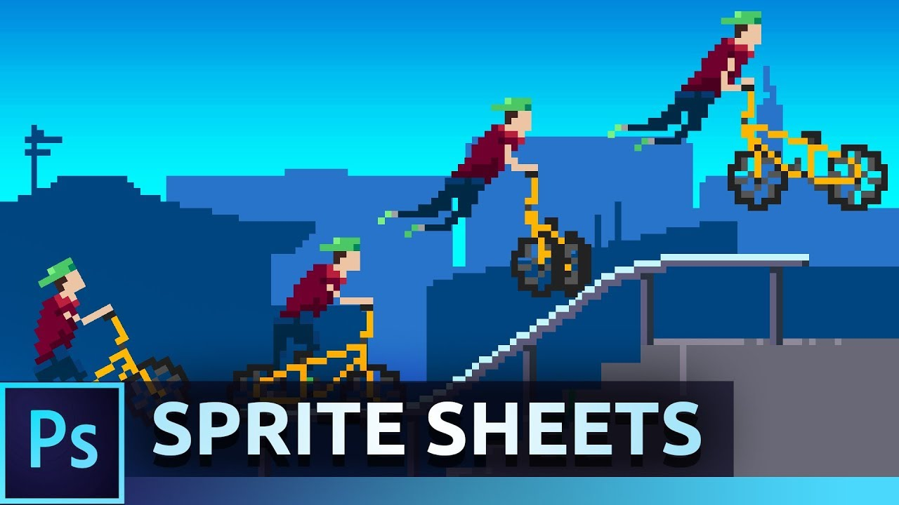 animate pixel art sprites photoshop tutorial youtube
