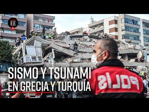 """Terremoto y """"mini-tsunami"""" sacuden a Grecia y a Turquía"""
