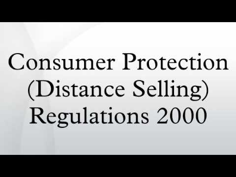 Consumer Protection (Distance Selling) Regulations 2000