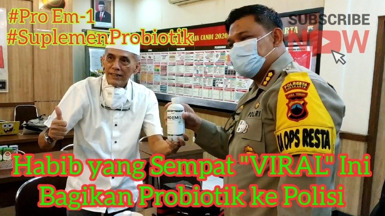 """Peduli di Tengah Pandemi, Habib yg Pernah """"VIRAL"""" Ini Beri Bantuan Probiotik ke Polisi"""